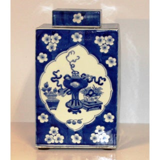 Blue and White Chinoiserie Ceramic Vase Preview