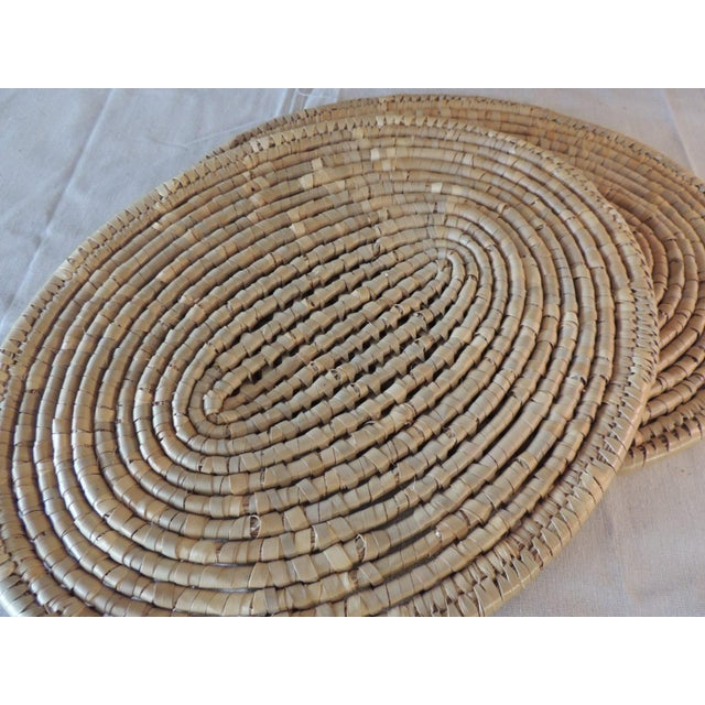2000 - 2009 Set of (6) Oval Woven Abaca Placemats For Sale - Image 5 of 9