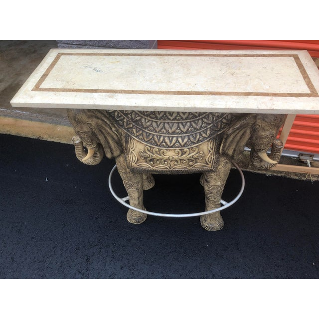 Contemporary Boho Chic Style Elephant Bar/Table For Sale - Image 3 of 9