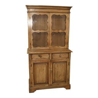 Continental Painted Pine Glass Door Press For Sale