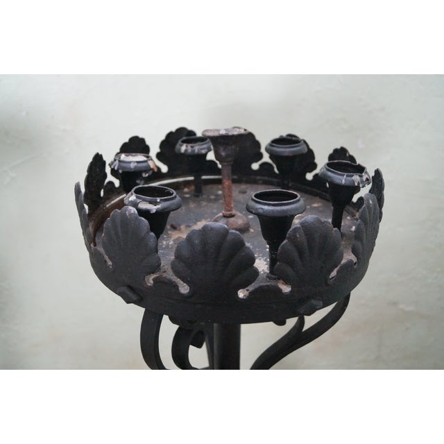 Quality Wrought Iron Torchieres Candle Holders - Image 3 of 10
