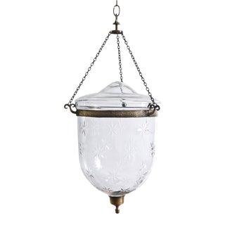 Etched Hanging Crystal Lantern For Sale