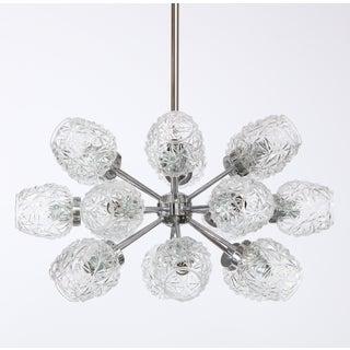 Eighteen Cut Glass Globe Chandelier Preview