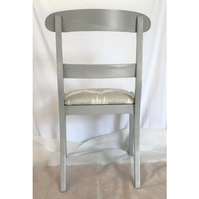 Gustavian Gray Klismos Dining Chairs - Set of 6 For Sale - Image 4 of 7