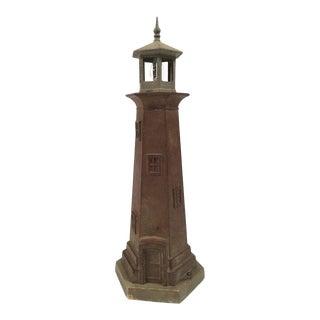 Vintage Cast Metal Lighthouse Lamp