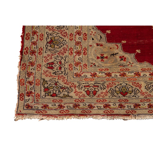 Antique Persian Kerman Rug 3'6'' X 5'2'' For Sale - Image 9 of 13