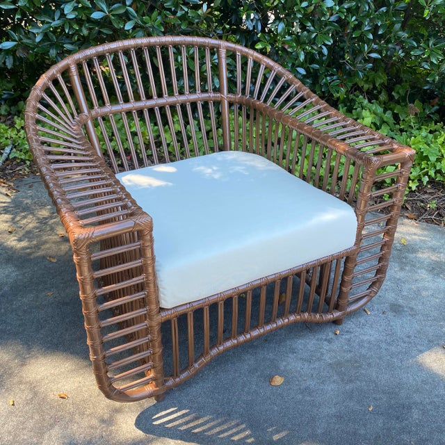 Henry Olko Style Rattan Club Chair For Sale - Image 10 of 10