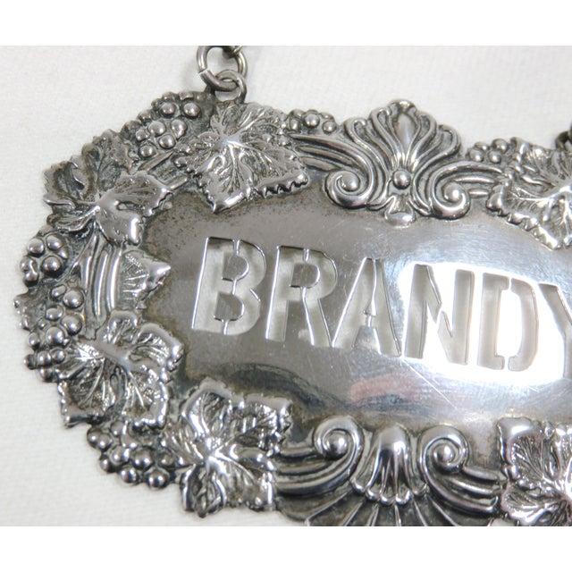 Metal 1890s Antique Sterling Silver Liquor Decantor Label For Sale - Image 7 of 13