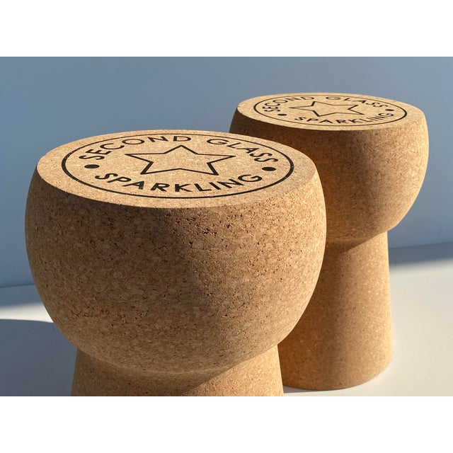 Champagne Cork Stool/Side Table For Sale - Image 12 of 13
