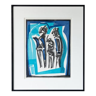 1960s Vintage Abstract Serigraph Print
