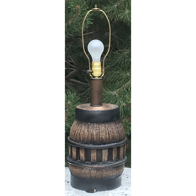Late 19th Century 19th Century Wooden Wagon Wheel Lamp For Sale - Image 5 of 5