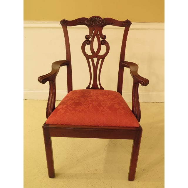Baker Furniture Company Baker Chippendale Mahogany Dining Room Chairs - Set of 10 For Sale - Image 4 of 13