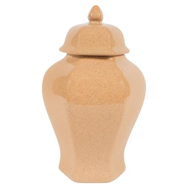 Mid-Century Modernist Ceramic Sand Colored Glazed Ginger Jar by Tiffany & Co For Sale - Image 9 of 9