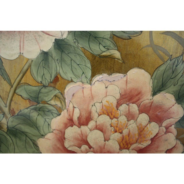 Vintage Decorative Chinese Chinoiserie Wall Panels, a Pair For Sale - Image 11 of 13