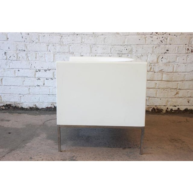 Metal Massimo Vignelli Style Plastic Cube Lounge Chairs, 1970s For Sale - Image 7 of 10