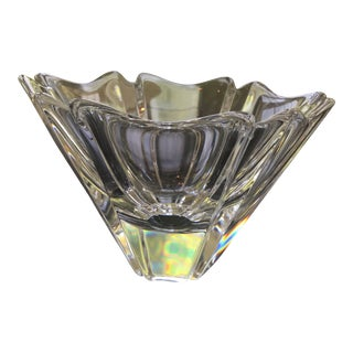 Orrefors Signed Crystal Orion Bowl For Sale