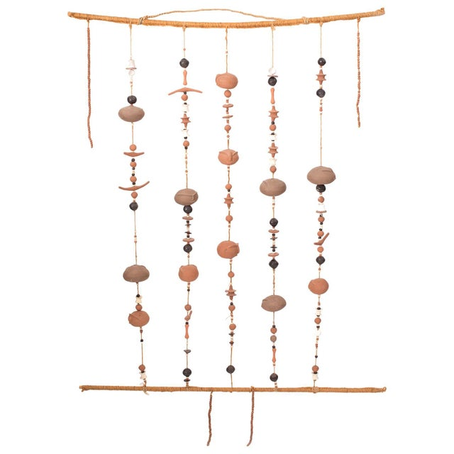 1960s Phenomenal Ceramic and Rope Wall Sculpture For Sale - Image 5 of 5