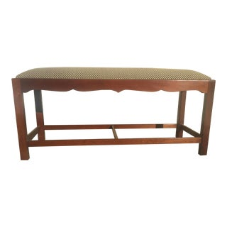 Upholstered Bench Wright Table Company For Sale