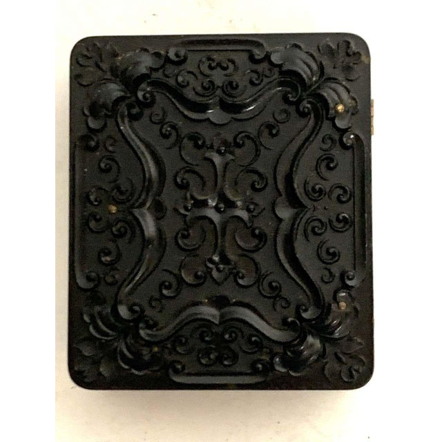 Glass 19th Century Ambrotype of a Young Male Student/ Writer, Gutta Percha Case For Sale - Image 7 of 8