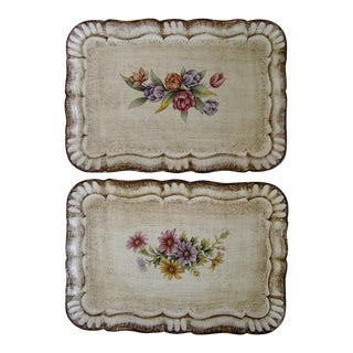 Florentine Botanical Trays - a Pair For Sale