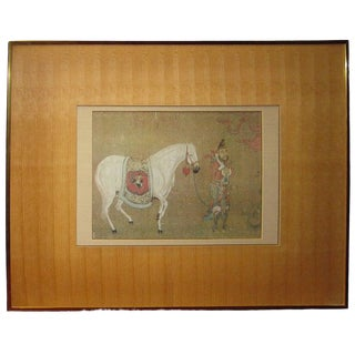 Chinese Print of Tang Dynasty Painting Framed For Sale