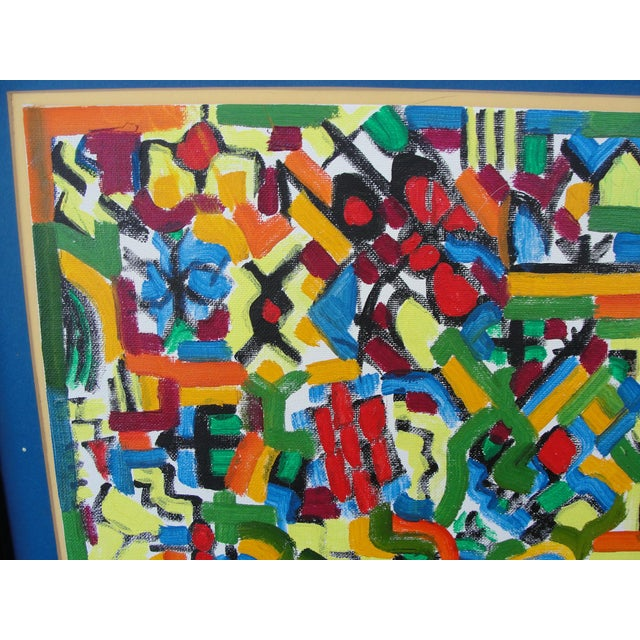 Abstract Expressionist Oil on Board Painting by Sian - Image 4 of 8