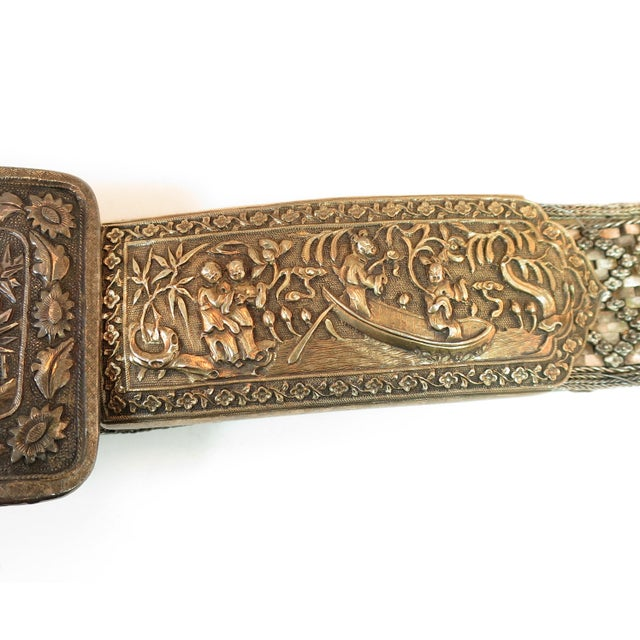Early 19th Century Early 19th Century Asian Silver Belt, China 1830s For Sale - Image 5 of 13