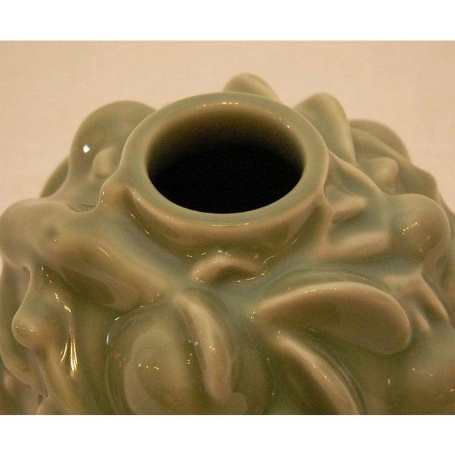 Ceramic Axel Salto Celedon Vase For Sale - Image 7 of 9
