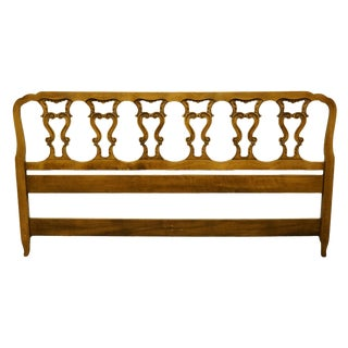 Late 20th Century Hickory Manufacturing Co. Louis XVI French Provincial King Size Headboard For Sale