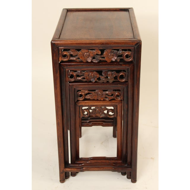 Asian 1930s Chinese Nesting Tables - Set of 3 For Sale - Image 3 of 13