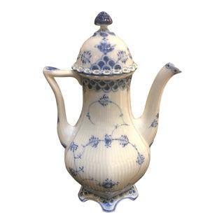 Royal Copenhagen Blue White Coffee Pot For Sale