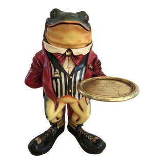 Frog Butler Drinks Table Tray For Sale