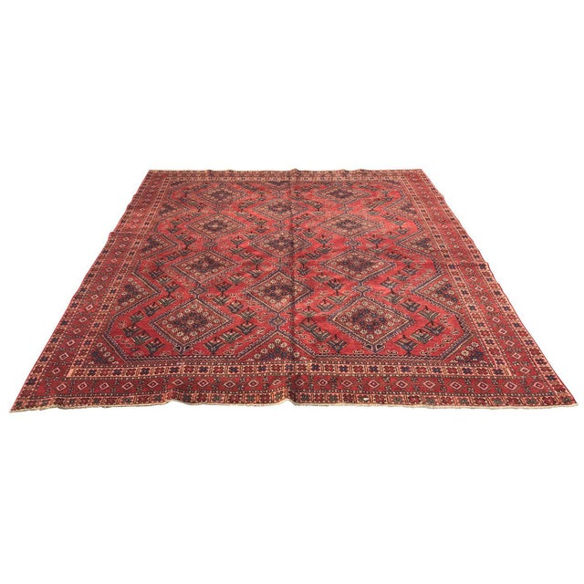 "Vintage Persian Yalameh Area Rug - 7'8"" x 9'7"" - Image 1 of 11"
