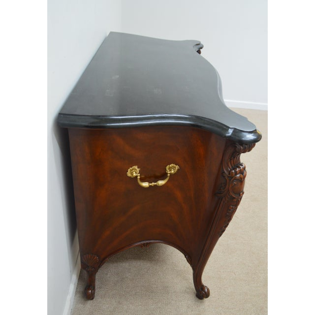 Maitland - Smith Maitland Smith Mahogany Chippendale Dresser Chest Commode For Sale - Image 4 of 13