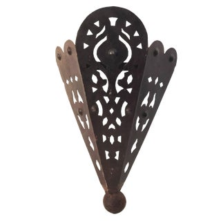 """Moroccan Rustic Iron Wall Sconce 16"""" H For Sale"""