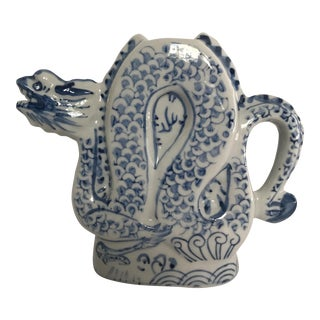 Blue & White Chinese Porcelain Dragon Pitcher