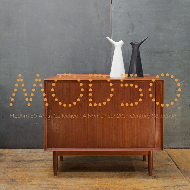 Arne Vodder Hifi Cabinet Teak Tambour Petite Stereo Credenza Danish Midcentury For Sale - Image 9 of 10