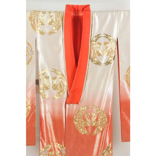 Japanese Ceremonial Kimono Framed in a Lucite Box For Sale - Image 4 of 10