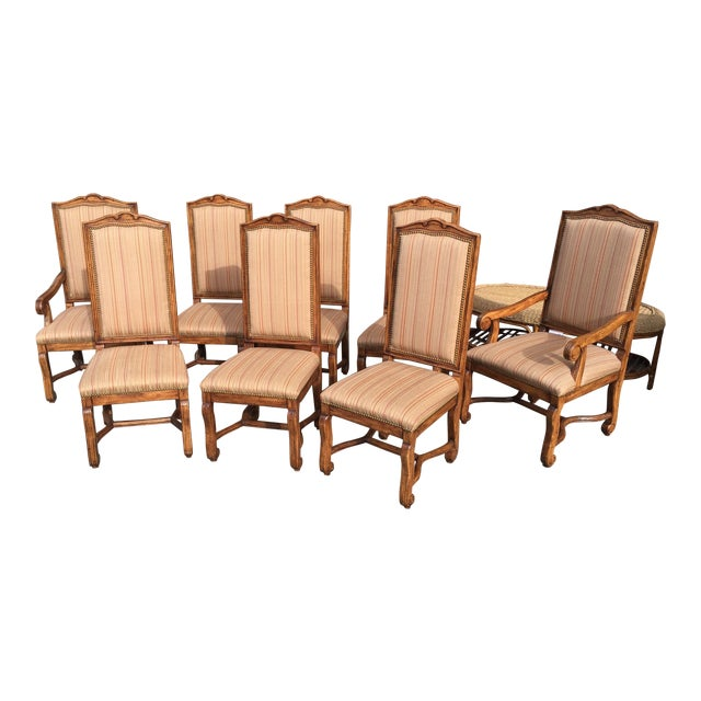 "Bausman ""Os De Mouton"" French Style Dining Chairs - Set of 8 - Image 1 of 11"