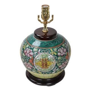 19th Century Antique Asian Porcelain Lamp For Sale