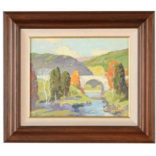 """""""Oak Creek Bridge"""" Painting by Richard Rackus For Sale"""