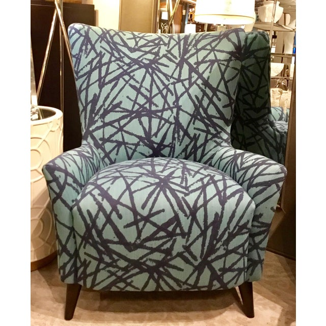 2010s Drexel Heritage Blue Collar Club Chair For Sale - Image 5 of 5