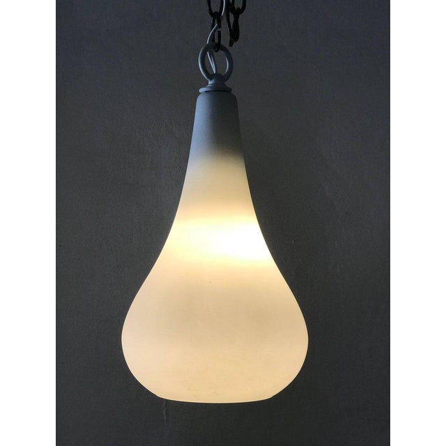 Teardrop pendant light in frosted glass chairish teardrop pendant light in frosted glass image 3 of 4 aloadofball Gallery