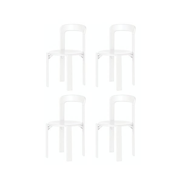 Dietiker Mid-Century Modern Dietiker I Rey White Chairs - Set of 4 For Sale - Image 4 of 6