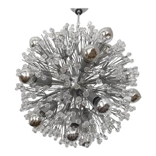 Sputnik Snowball Chandelier by Emil Stejnar for Rupert Nikoll, 1950s For Sale