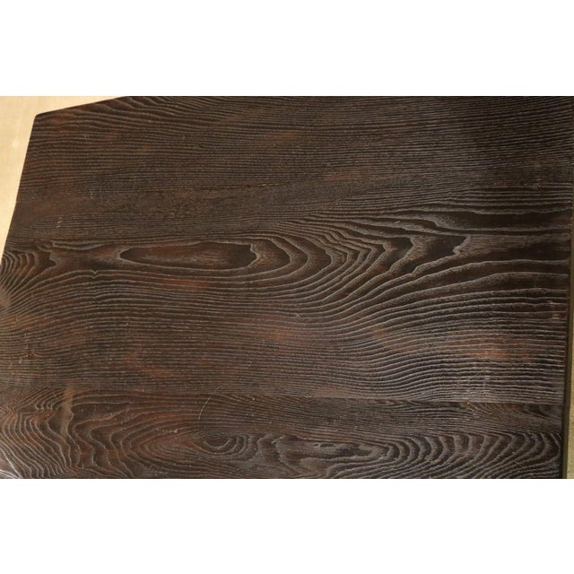 1920s Japanese Sugi Wood Coffee Table For Sale - Image 5 of 6