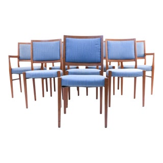 Mid Century Modern Teak Dining Chairs, Set of 8 For Sale