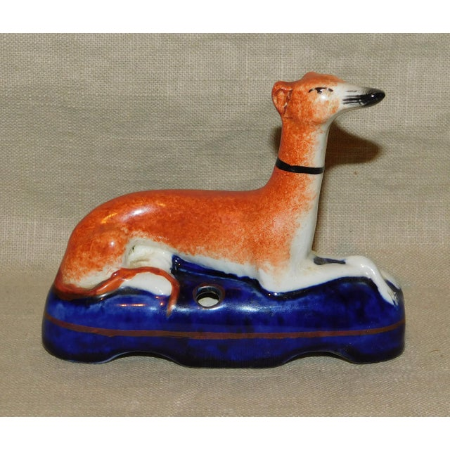 Antique Staffordshire Whippet Pen Stand For Sale In Philadelphia - Image 6 of 7