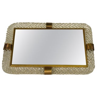 Torciglioni Glass Vanity Tray by Venini For Sale