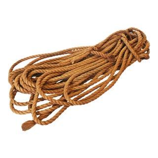 Vintage Nautical Woven Manila Rope - 110 Feet